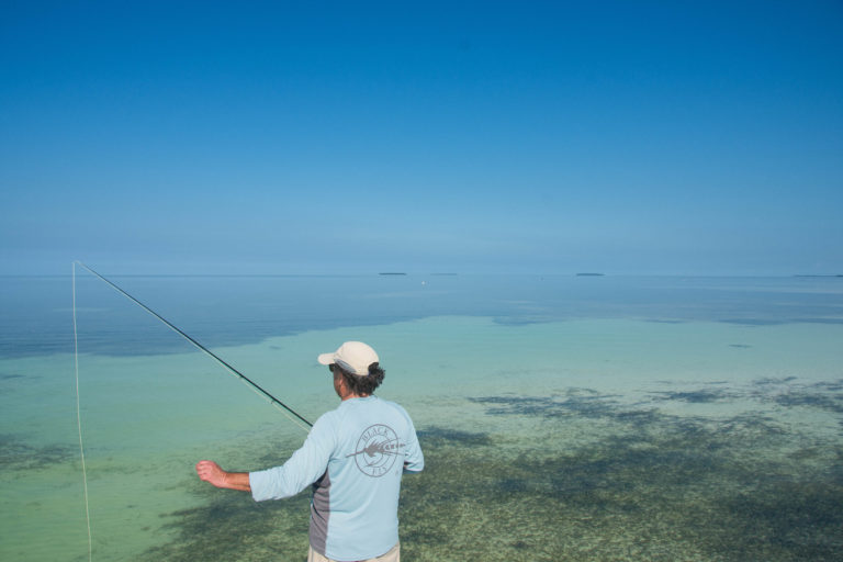 Fishing the flats off of Key West for the ever elusive Bonefish