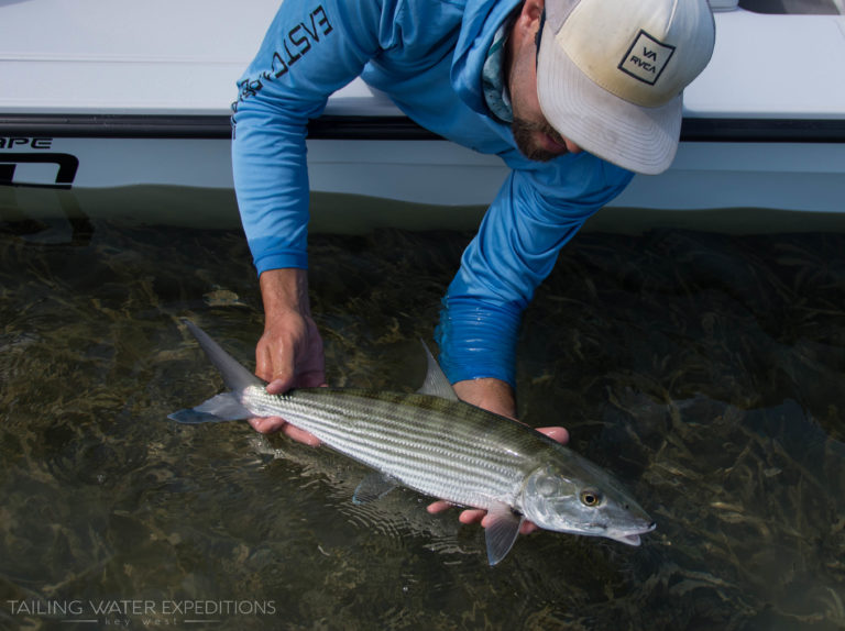 Fishing for bonefish in Key West and the Florida Keys is a lot of fun